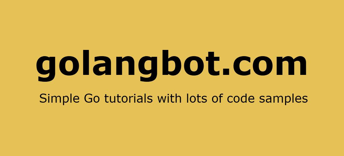 Golang Strings - golangbot com